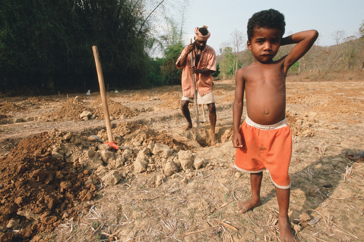 A Siddi man works for less than the minimum wage in Yellapur, India