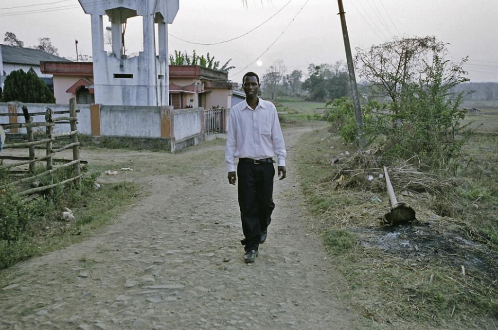 Siddi leader Ramnatha, Gardoli, Karnataka, India.