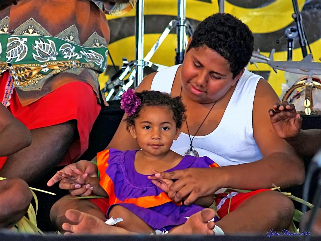 Torres Strait Islander dancers at a cultural festival in Queensland, Australia. John Skewes.