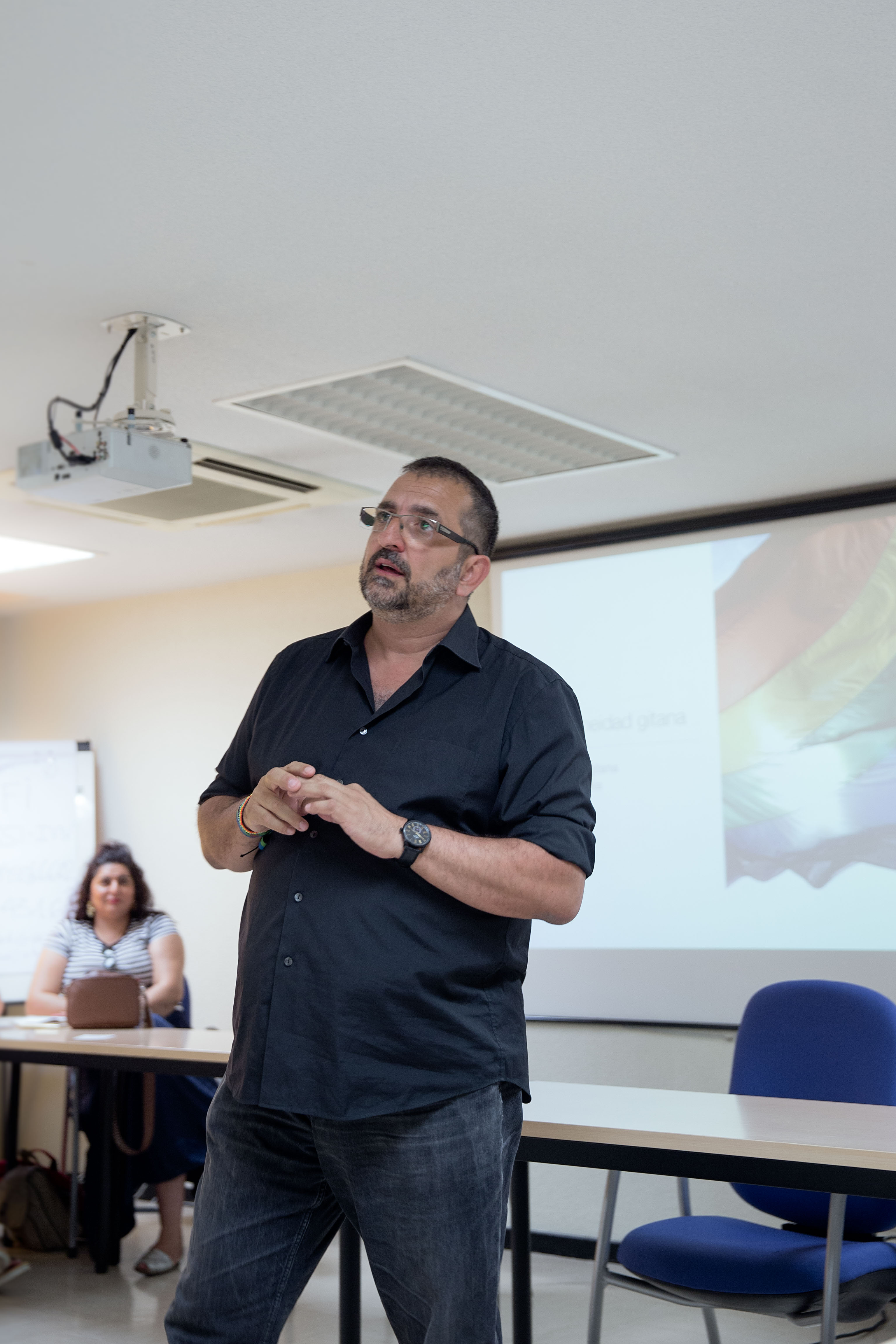 Iñaki giving a talk at the Ministry of Health in Madrid, July 2018. Photo by Bex Wade