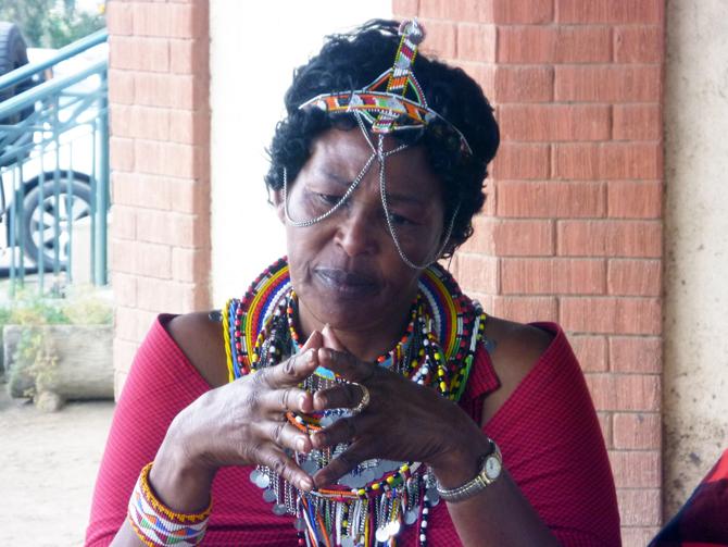 Pauline Kinyarkyo, a Maasai founder of Kenyan-based community organization Enaitoti Naretu Olmaa meaning 'feeding, helping the Maasai community'. Pauline is an advocate against female genital mutilation. Credit: MRG.
